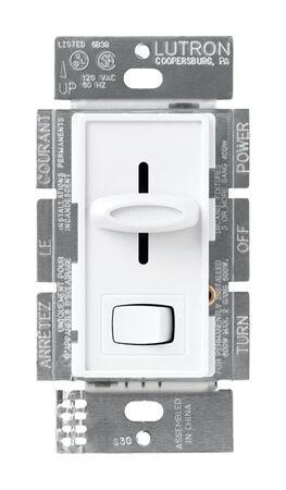 Lutron Skylark 5 amps 600 watts Slide Dimmer Switch White