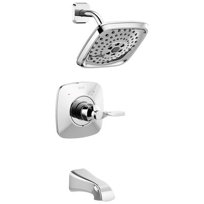 Delta Monitor Sawyer 1 Tub and Shower Faucet Chrome Metal