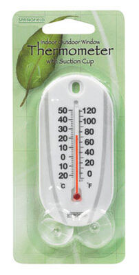 Taylor Tube Thermometer Indoor and Outdoor White 4 in.