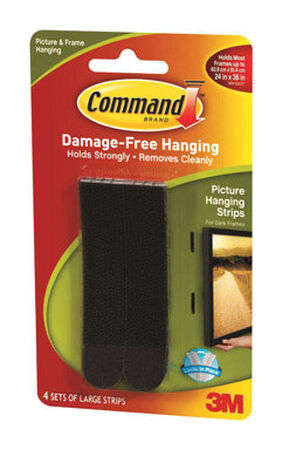 3M Command Large Picture Hanging Foam 3-5/8 in. L Adhesive Strips 4 lb. per Set 8 pk