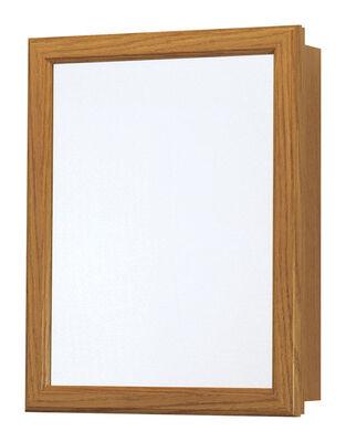 Continental Cabinets Medicine Cabinet Mirrored Swing Door 19-1/4 in. x 15-1/4 in. x 5 in. Oak