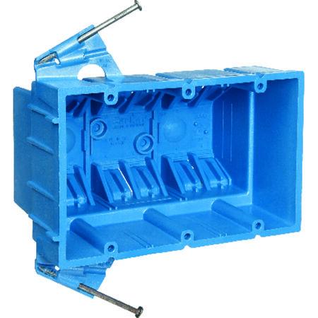 Carlon 5-7/8 in. H Rectangle 3 Gang Outlet Box Blue PVC