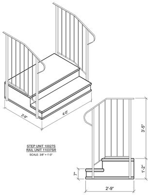 "Concrete step 2 Tread 7"" stoop"