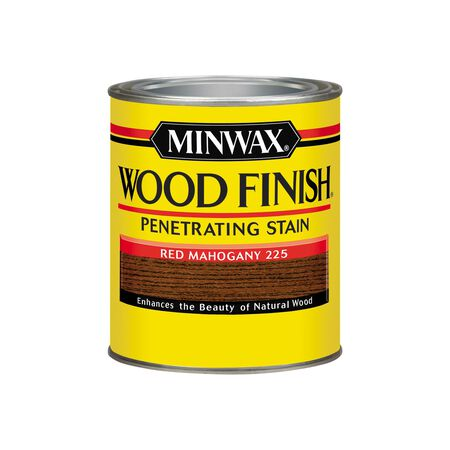 Minwax Wood Finish Transparent Oil-Based Wood Stain Red Mahogany 1 qt.
