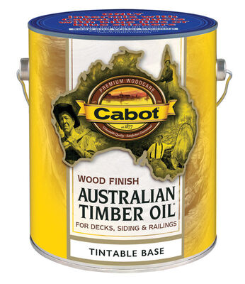 Cabot Wood Finish Transparent Oil-Modified Australian Timber Oil Tintable Base Tintable 1 gal.