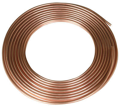 Reading Copper Refrigeration Tubing Type R 1/4 in. Dia. x 50 ft. L