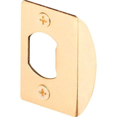 Prime-Line Latch Strike Plate 2.25 in. H x 2-5/8 in. L Brass Plated