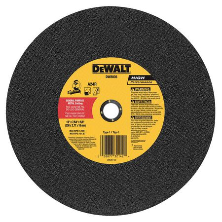 "10"" x 7/64"" x 5/8"" general purpose cutting wheel"