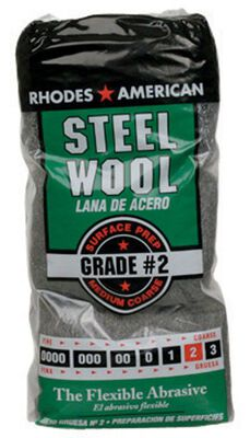 Rhodes American 4 in. W x 8-3/4 in. L Medium Coarse 2 Grade Steel Wool