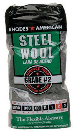 Rhodes American 4 in. W x 8-3/4 in. L Medium Coarse 2 Grade Steel Wool