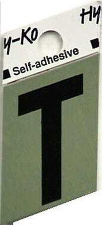 Hy-Ko Self-Adhesive Black 1-1/2 in. Aluminum Letter T