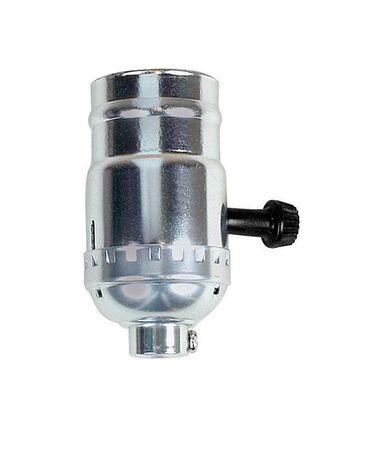 Jandorf Turn Knob Socket 250 volts Nickel 250 watts