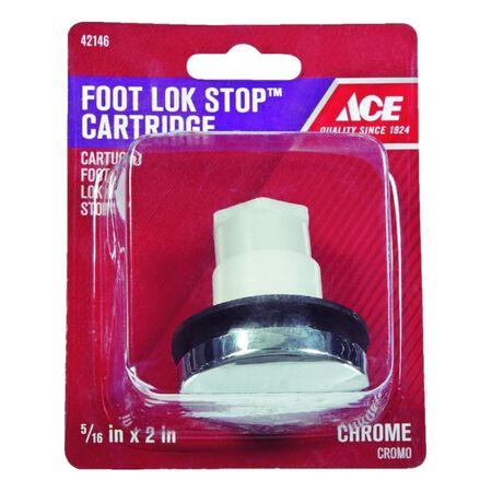 Ace 5/16 in. Dia. Tub Drain Stopper Plastic Chrome Polished