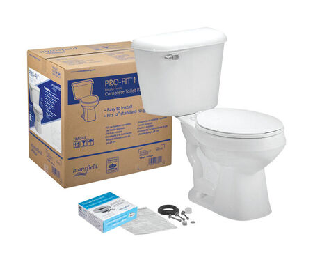 Mansfield Pro-Fit 1 Round Complete Toilet 1.6 White