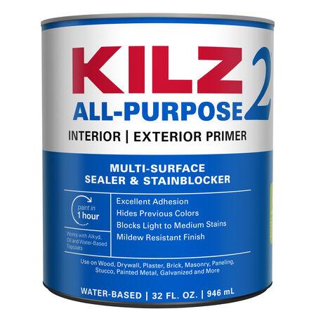 KILZ White Water-Based Primer and Sealer 1 qt.