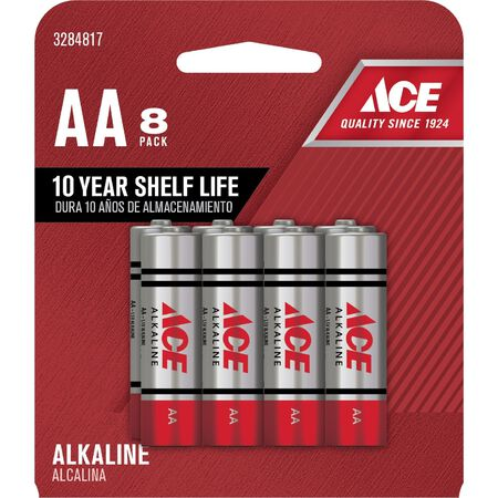 Ace AA Alkaline Batteries 1.5 volts 8 pk