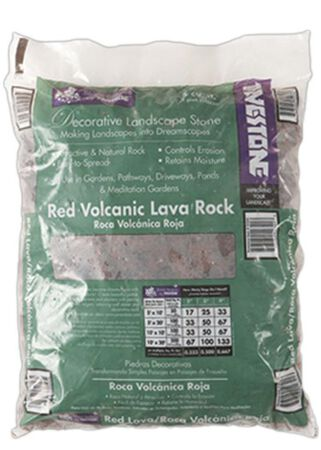 Pavestone Red Volcanic Lava Rock .5 cu ft