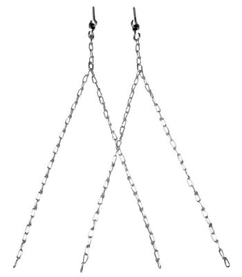 Campbell Porch Swing Assembly with Hooks Steel Silver 500 lb.
