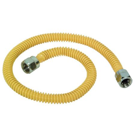 Brasscraft 3/8 in. Flare x 3/8 in. Dia. Flare Stainless Steel 22 in. Gas Connector