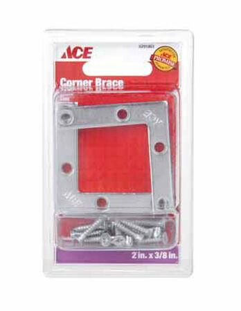 Ace Flat Corner Brace 2 in. x 3/8 in. Zinc