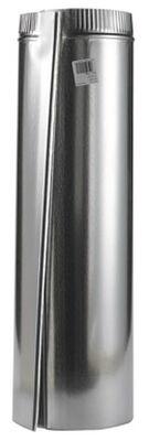 Imperial Manufacturing 7 in. Dia. x 24 in. L Galvanized Steel Furnace Pipe Metallic