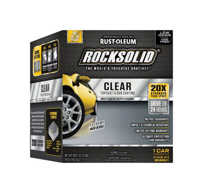 Rust-Oleum RockSolid Garage Floor Coating Kit Extreme High Gloss Clear 90 oz.