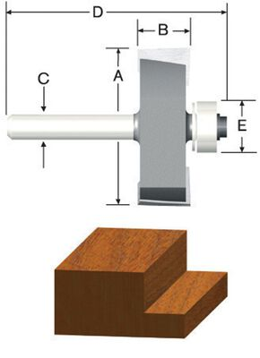Vermont American 1/2 in. Dia. Carbide Tipped Rabbeting Router Bit