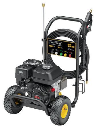 Craftsman Pro Series Gasoline Honda Pressure Washer 3600 psi 2.5 gpm