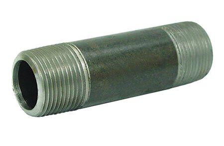 Ace Schedule 40 MPT To MPT 1-1/4 in. Dia. x 6 in. L x 1-1/4 in. Dia. Galvanized Steel Pipe Nipp