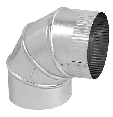 Imperial Manufacturing 4 in. Dia. x 4 in. Dia. 90 Galvanized Steel Stove Pipe Elbow