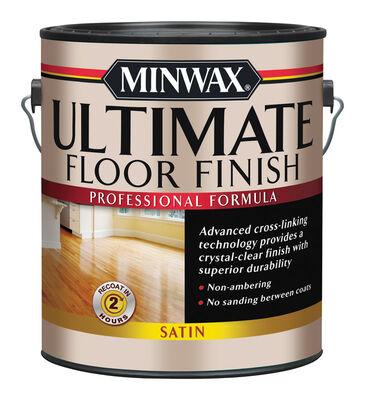 Minwax Indoor Clear Satin Ultimate Floor Finish 1 gal.