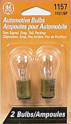 GE Miniature Lamps 1157BP For Turn Signal Stop Tail and Parking 12 volts 2 Carded