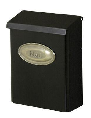 Solar Group Gibraltar Designer Galvanized Steel Wall-Mounted Locking Mailbox Black 12-1/2 in.
