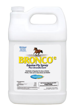 Farnam Bronco Equine Fly Spray Insect Killer For Biting Insects 1 gal.
