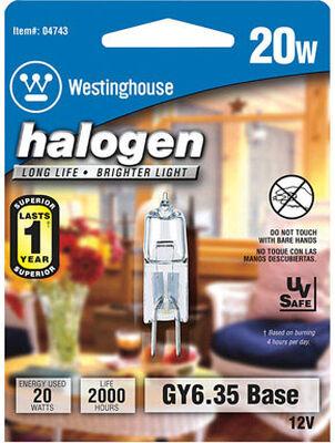 Westinghouse Halogen Light Bulb 20 watts 290 lumens Tubular T4 1.75 in. L White 1 pk