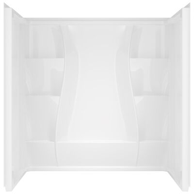Delta Bathing System 74 in. H x 60 in. W x 32 in. L White Rectangular Shower Wall Set