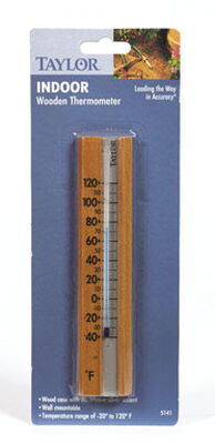 Taylor 6-1/2 in. Indoor Brown Tube Thermometer