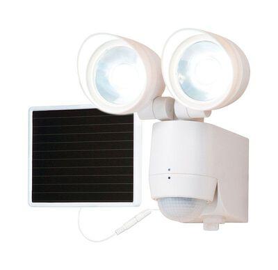 All-Pro Solar Powered Light Plastic White Motion-Sensing LED