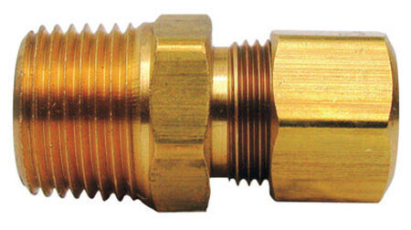 JMF 1/4 in. Dia. x 1/4 in. Dia. Brass Compression Connector