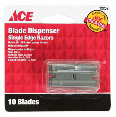 Ace Steel Single Edge #9 Razor Blade 10 pk