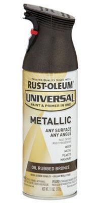 Rust-Oleum Universal Paint & Primer in One Oil Rubbed Bronze Metallic Spray 11 oz.