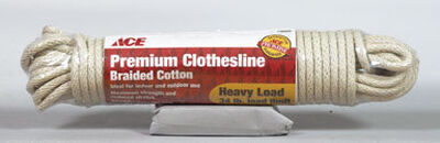 Ace 50 ft. L Tan Plastic Braided Cotton Premium Clothesline
