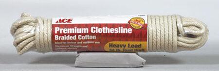 Ace 50 ft. L Tan Plastic Braided Cotton Premium Clothesline