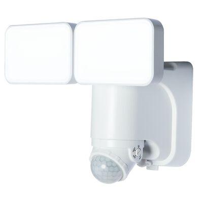 Heathco White Plastic Security Light Motion-Sensing LED