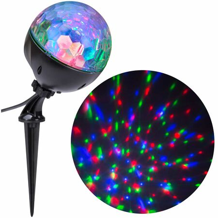 Gemmy Lightshow Confetti LED Light Show Projector Blue/Green/Red 6 lights