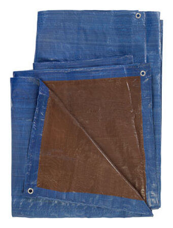 Ace Blue/Brown Medium Duty Tarp 12 ft. W x 16 ft. L