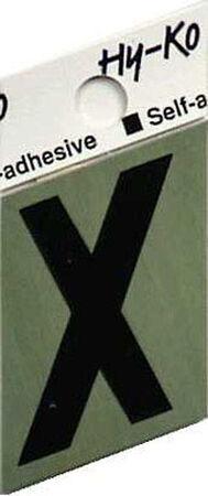 Hy-Ko Self-Adhesive Black Aluminum Letter X 1-1/2 in.