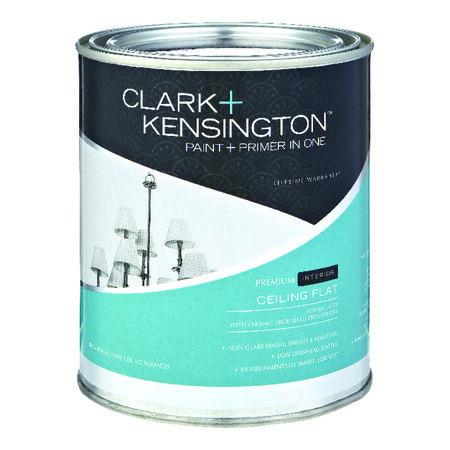 Clark+Kensington Flat Paint & Primer Low VOC Ceiling White Acrylic Latex 1 qt.