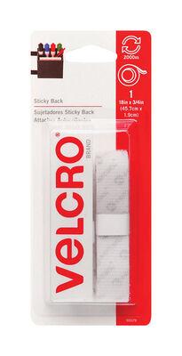 Velcro 18 in. L x 3/4 in. W Hook and Loop Fastener 1 pk