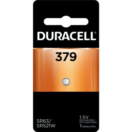 Duracell 379 Silver Oxide Watch/Electronic Battery 1.5 volts 1 pk